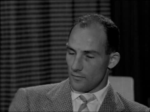 stirling moss interview england london int stirling moss 2shot and interview sot on fangio being reported to have said that he expected moss to win... - スコットランド スターリング点の映像素材/bロール