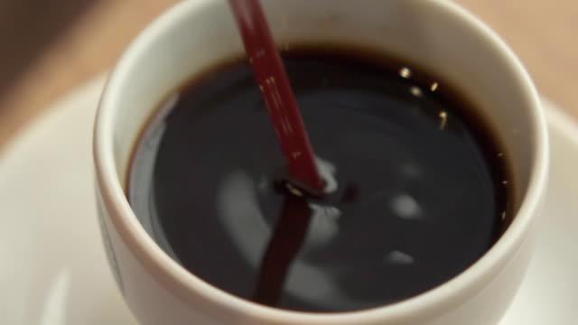 stirring coffee - coffee variation stock videos & royalty-free footage