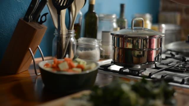 Stirring Cooking Vegetables