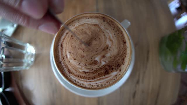 stirring espresso coffee - art stock videos & royalty-free footage