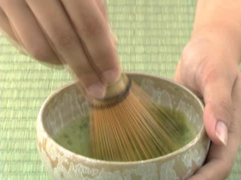 vídeos y material grabado en eventos de stock de stirring japanese tea - sado