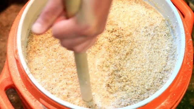 Stirring the Mash - Brewing Beer