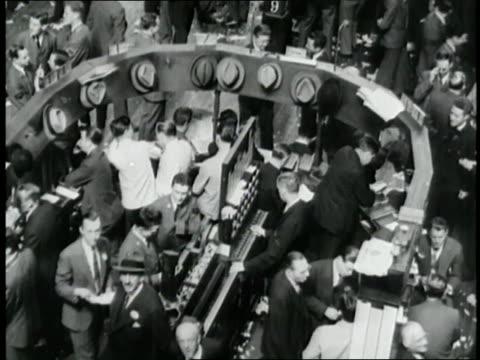 stock brokers patrol the floor of the new york stock exchange. - 1940 stock videos & royalty-free footage