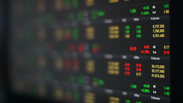 stock exchange data display - digital signage stock videos and b-roll footage