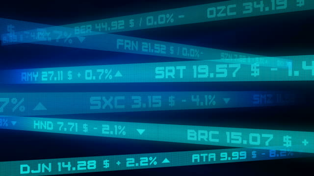 Stock Exchange Market Business Background Loopable With Financial Symbols