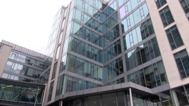 Stock footage of Google and Facebook offices in the Silicon Docks area of Dublin