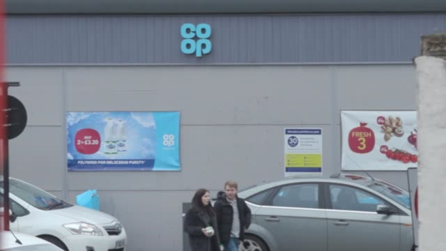 stock footage of the co-op supermarket chain on the news that it plans to create 5,000 store-based posts in a bid to provide temporary employment for... - chain store stock videos & royalty-free footage
