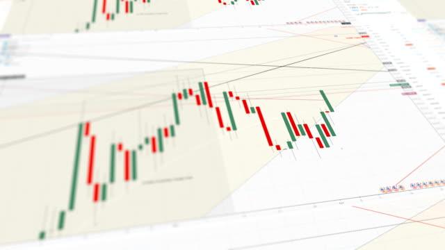 stock marke bar graph trading - bull market stock videos & royalty-free footage