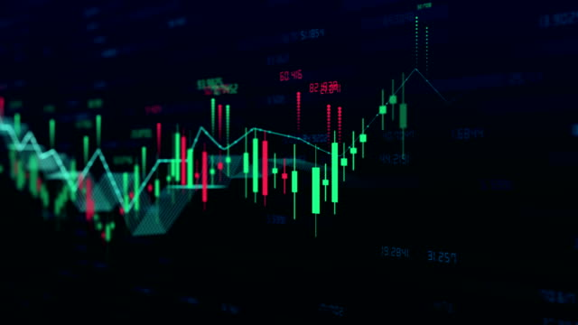 stock market bar graph trading 4k - chart stock videos & royalty-free footage