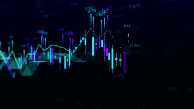 stock market bar graph trading 4k - economics stock videos & royalty-free footage