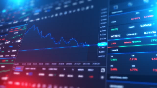 stock market bar graph trading - finanza video stock e b–roll