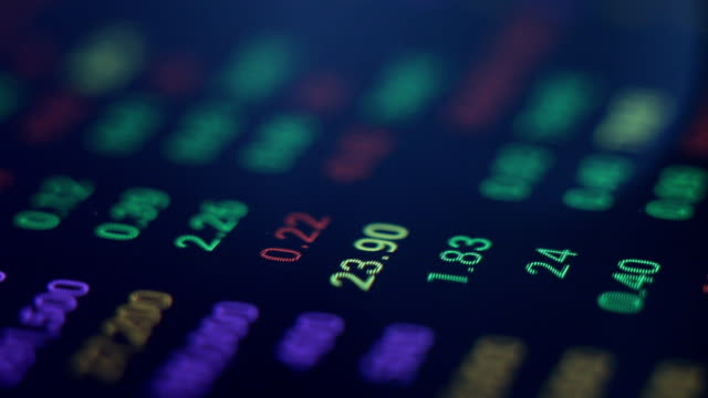 Stock Market board looped HD