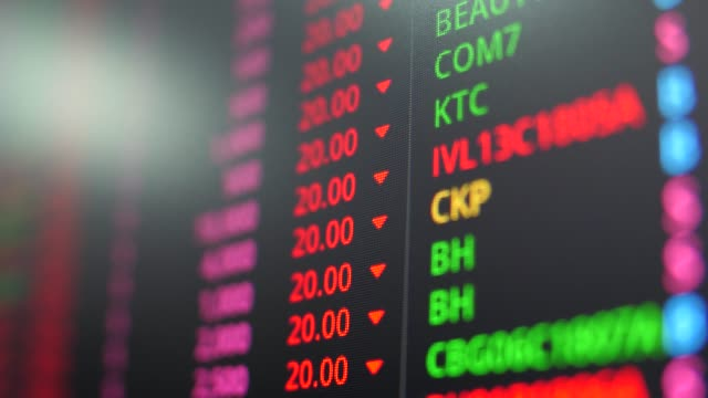 stock market board moving screen - composite image stock videos & royalty-free footage