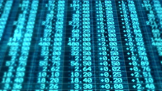 stock market board moving seamless loop animation - exchange rate stock videos & royalty-free footage