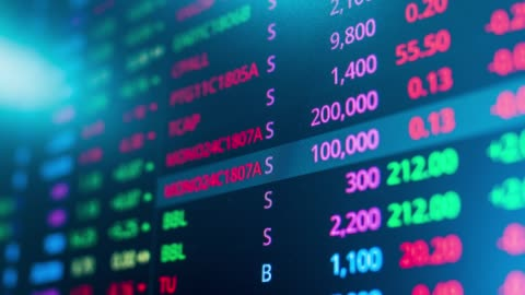 stock market chart,stock market data - trading stock videos & royalty-free footage