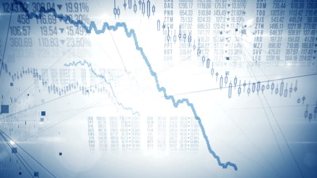 stock market crash / bärenmarkt (hell) - loop - verlust stock-videos und b-roll-filmmaterial