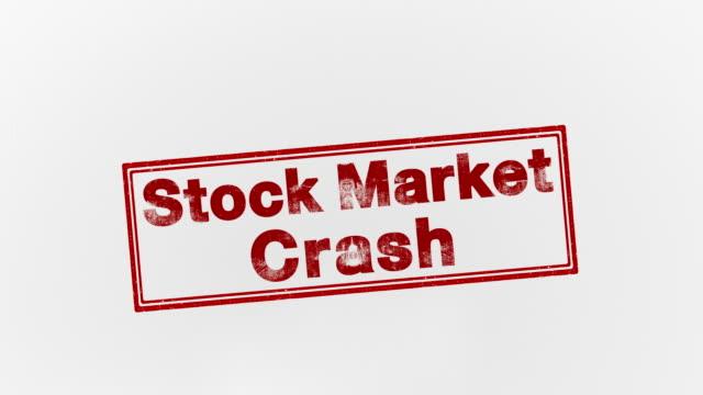 vidéos et rushes de crash du marché boursier - bol vide
