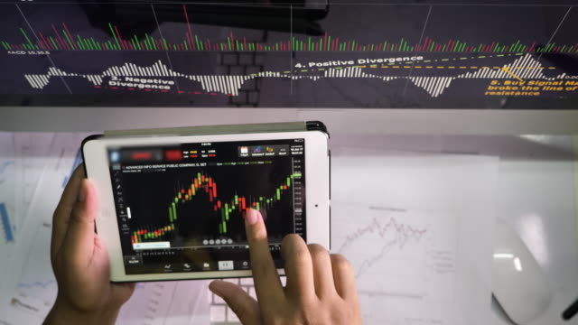 Stock market data Analyzing with Digital Tablet