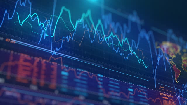 stock market data on screen - financial technology stock videos & royalty-free footage