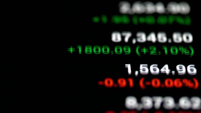 börsendatenhandel - börsenhändler stock-videos und b-roll-filmmaterial