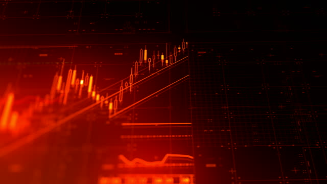 stock market financial data and charts - line graph stock videos & royalty-free footage