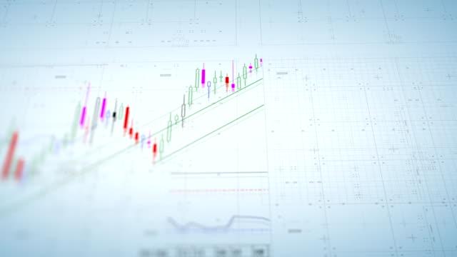 vídeos y material grabado en eventos de stock de gráficos y datos financieros del mercado de valores - bolsa de nueva york