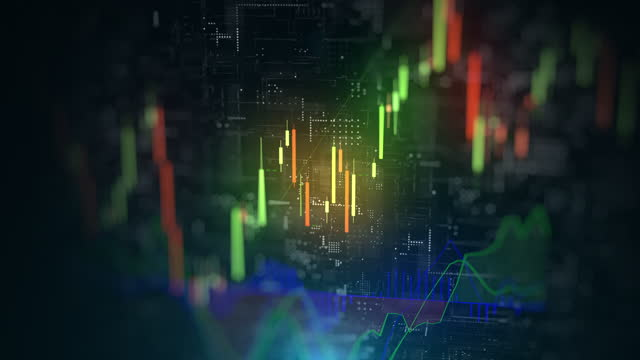 vidéos et rushes de données et graphiques financiers boursiers - diagramme en bâtons