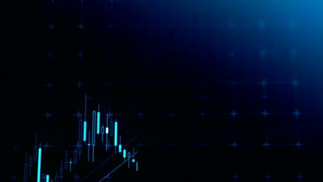 aktienmarkt finanzielle daten und diagramme - liniendiagramm stock-videos und b-roll-filmmaterial