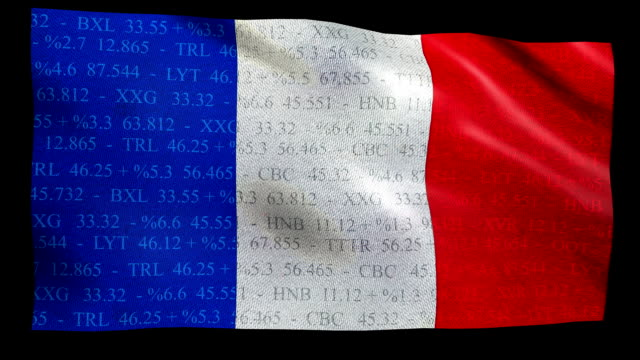Stock Market Flag of France - Alpha and Loop