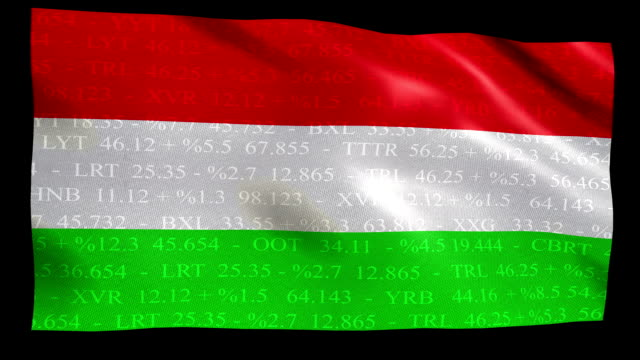 stock market flag of hungary - alpha and loop - traditionally hungarian stock videos & royalty-free footage