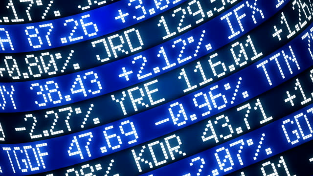 stock market | loopable - trading board stock videos and b-roll footage