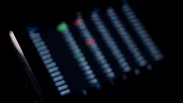 stock market on digital tablet - slide rule stock videos & royalty-free footage