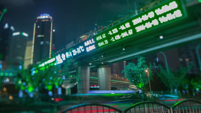 stock market sign shanghai city - bank financial building stock videos and b-roll footage