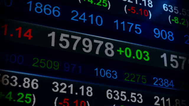 stock market ticker - recession stock videos & royalty-free footage