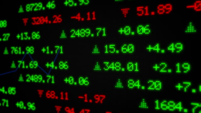 stock market tickers data - trading screen stock videos & royalty-free footage