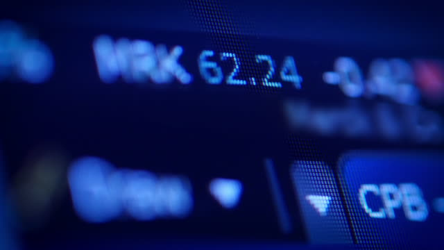 stock market tickers data - trading board stock videos and b-roll footage