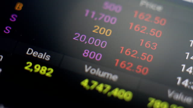 stock market tickers. loopable. green and red - bull market stock videos & royalty-free footage