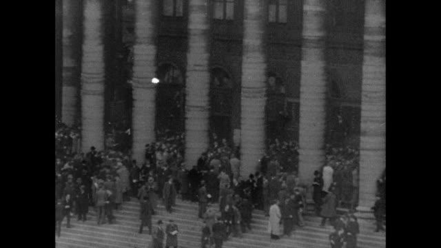 montage stock market traders writing bids and calls on blackboard, pedestrians on steps of old stock exchange, new york stock exchange, and johannesburg gold exchange - new york stock exchange stock videos & royalty-free footage