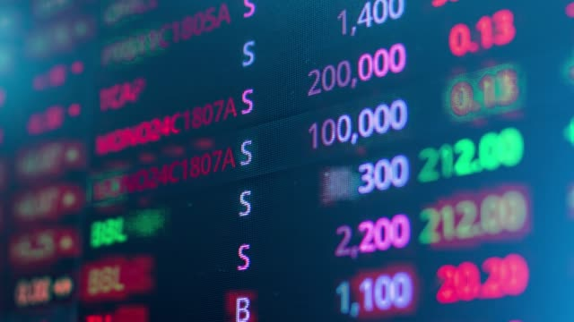 stock market - economia video stock e b–roll