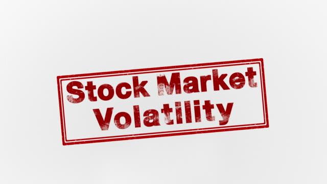 vidéos et rushes de volatilité des marchés boursiers - bol vide