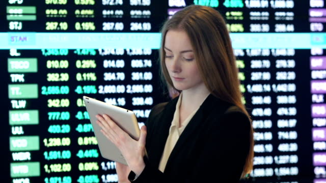 stock numbers     bs  pr  mo - stock trader stock videos and b-roll footage