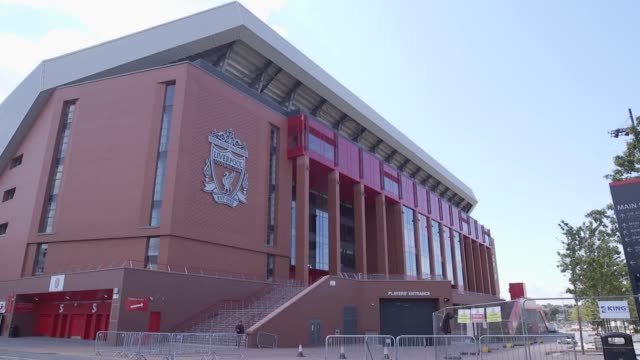stock shots of anfiled livepool ahead of the 2019/20 premier league season the new campaign gets underway at anfield with liverpool hosting norwich - norwich england bildbanksvideor och videomaterial från bakom kulisserna
