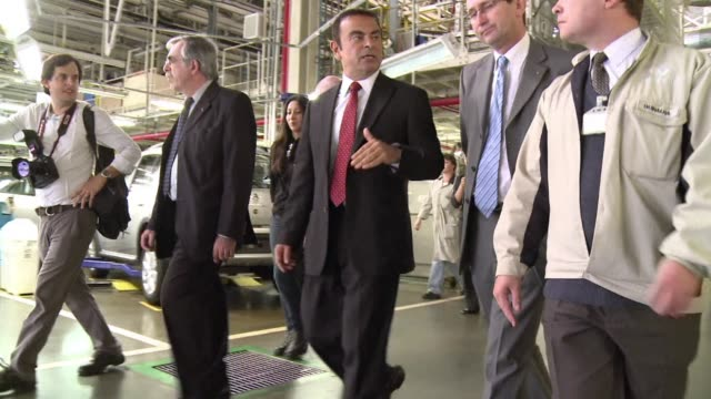 Stock shots of car facturer Renault's Curitiba factory in Parana state and of Renault boss Carlos Ghosn visiting the factory Curitiba Brazil
