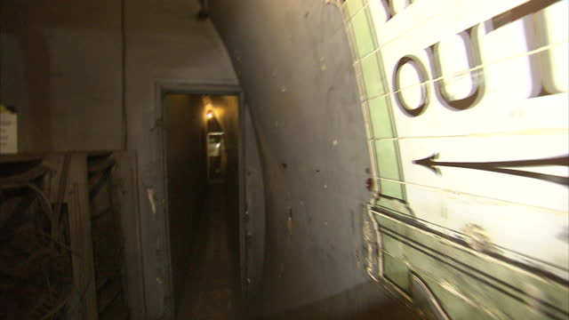 stock shots of down street tube station, a disused station on the london underground which was used as an underground bunker during world war ii. - bomb shelter stock videos & royalty-free footage