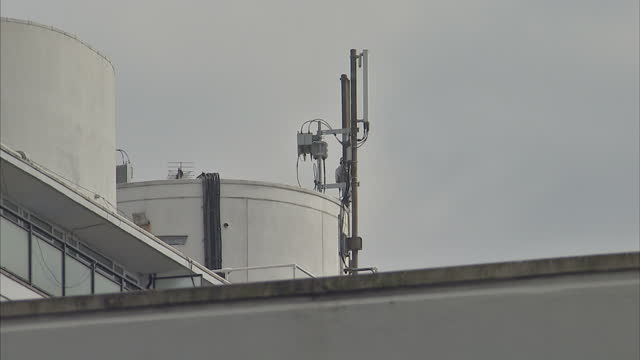 stock shots of mobile phone towers and telephone masts on top of buildings in westminster - stingray stock videos and b-roll footage