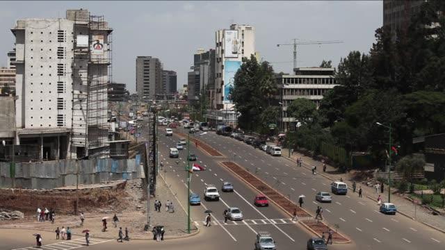 stockvideo's en b-roll-footage met stock shots of the ethiopian capital clean stock shots of addis ababa the capital on may 31 2013 in addis ababa ethiopia - hoorn van afrika