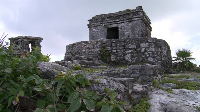 stock shots of the maya heritage site in tulum southern mexico approximately 120 kilometres of the cancun seaside resort clean stock shots of the... - latin american civilizations stock videos and b-roll footage