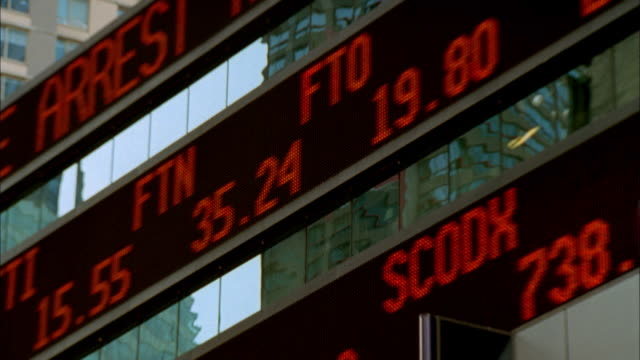 ms led stock ticker in times square/ new york city - 2002 stock videos & royalty-free footage