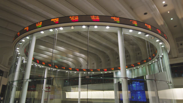 ms stock values shown on the electronic display inside the trading floor / tokyo, tokyo-to, japan - trading screen stock videos & royalty-free footage