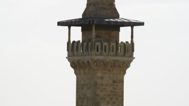 Stock Video Footage of a minaret in Jerusalem filmed in Israel at 4k with Red.